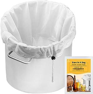 "Brew Bag, 2 Pack Extra Large (26"" x 22"") Straining Bag,Reusable Cold Brew Bags Fine Mesh Bag for Fruit Cider Apple Grape W..."