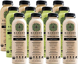 Remedy Organics Protein Variety 12-Pack | Plant Based Protein Shakes, Ready to Drink | USDA Organic, Gluten Free, Dairy Fr...