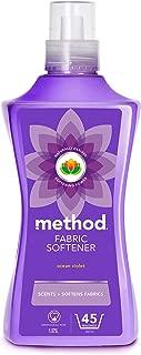 Method Ocean Violet Fabric softener , Pack of 4, 180 Washes