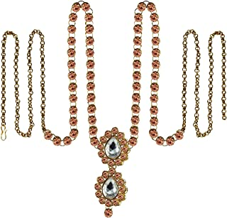 Vidhya Kangan Belly Chains for Women (Pink) (bro349)