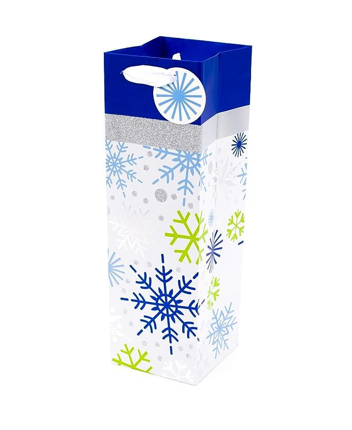 Hallmark Holiday Bottle Gift Bag (Snowflakes)