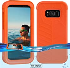 Temdan Galaxy S8 Plus Floating Case with a 0.2mm Clear&Thin Waterproof Bag Shockproof Lifejacket Case for Samsung Galaxy S8 Plus (6.2inch) -Orange