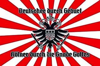 Deutscher Kölner durch die Gnade Gottes Germany Nostalgic Domed Strong Metal Tin Pub Sign 7.87