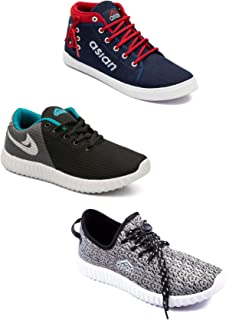 Asian Men's Casual Shoes Combo Pack of 3-0301-M547