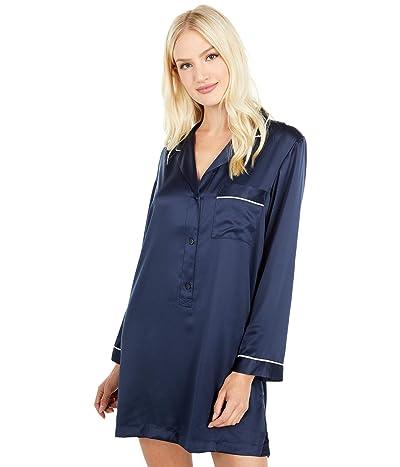 Natori Feathers Essentials Sleepshirt (Night Blue) Women