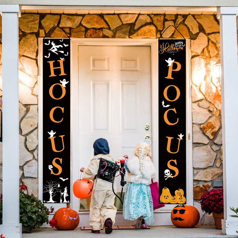 Whaline Hocus Pocus Halloween Banner Indoor H Decorative Challenge the lowest price of Japan ☆ Ranking TOP10 Outdoor
