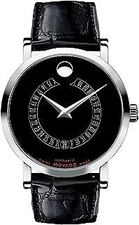 Movado - 0606158 - Reloj para Hombres, Correa de Cuero Color Negro