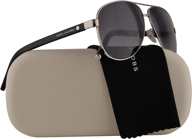 Marc Jacobs Marc 71 S Sunglasses Palladium Silver Black w Grey Gradient Lens 60mm 84JHD MJ71 S MJ 71 S Marc 71S Marc71 S Marc71S