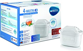 Brita 1023124?Maxtra Ion-exchange, Carbon Plus Pack 4?External?-?Plastic Internal Water Filter Cartridge?-?10?x 5.5?x 7?cm White