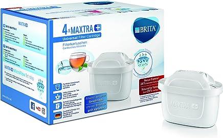 BRITA Filterkartuschen MAXTRA+ im 4er Pack – Kartuschen für alle BRITA Wasserfilter zur Reduzierung von Kalk, Chlor & geschmacksstörenden Stoffen im Leitungswasser