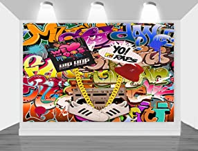 MengGeGe Photography Backdrop Hip Hop 80's 90's Themed Party Decoration Photo Bacground 7x5ft Vinyl