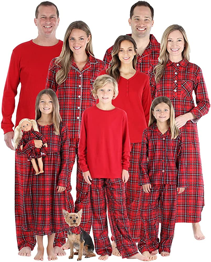 SleepytimePJs Matching Family Tampa Mall Christmas Sets Red Flannel Pajama price