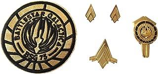 Battlestar Galactica Lt. Rank & Junior Wings Dress Uniform Pins and Patch Set