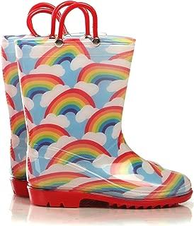 Girls Boys Printed Rain Boots for Kids, Waterproof Toddler Little/Big Kids Classic Wellies