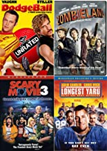 Oh! Spoof Comedies Mega Pack Longest Yard Adam Sandler Football + Scary Movie 3 & Zombieland & Dodgeball (4 Feature Film Ridiculous DVD Bundle Laugh Out Loud)