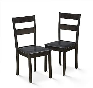 FURINNO Dining Chair Set, Espresso