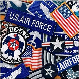 ワッペン屋 WappenCook ミリタリーワッペン アメリカ空軍 多目 お任せ10枚セット アイロン接着