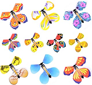 Hotusi 20Pcs Magic Fairy Flying Butterfly Wind up Butterfly Toy for Birthday Anniversary Wedding/Surprise Gift or Party Pl...
