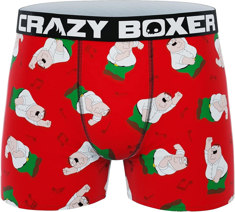 CRAZYBOXER Men's Family Guy Dancing Peter Boxer Briefs Red