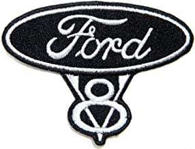AUTOMOTIVE PACTH CAFE Ford V8 Hot Rod Truck Pickup Sport Car Racing Patch Iron on Applique Embroidered T Shirt Jacket Baseball Cap Hat Advertising Logo Badge Emblem Sign Accessories Craft Gift