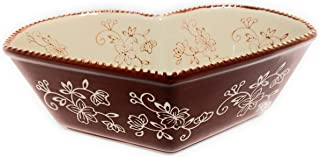 Temp-tations Heart Baker, Bake & Serve, 1 Qt, Casserole or Side Dish (Floral Lace Chocolate)