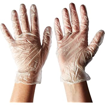Pack de 300 guantes de polietileno desechables de plástico transparente para limpieza de alimentos, sin polvo, sin látex, cómodos de llevar: Amazon.es: Bricolaje y herramientas