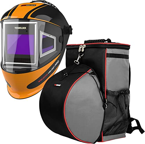 popular YESWELDER Panoramic 180 View Auto Darkening Welding Helmet with Side View&Welding high quality Backpack Extreme Gear Pack 2021 with Helmetcatch online