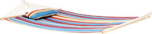 lowest Sunnydaze online sale Hammock Cotton Fabric w/ outlet online sale Spreader Bar and Detachable Pillow, Indoor/Outdoor Use, 300 Pound Capacity, Wildberry outlet online sale