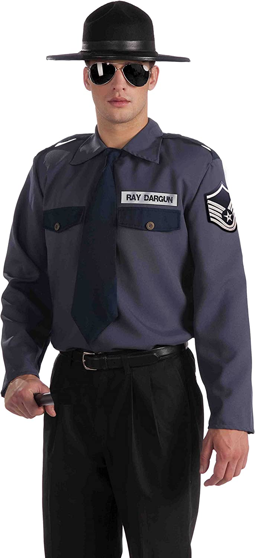 Forum Novelties Men's Men with Power State Trooper Costume Top bluee Black