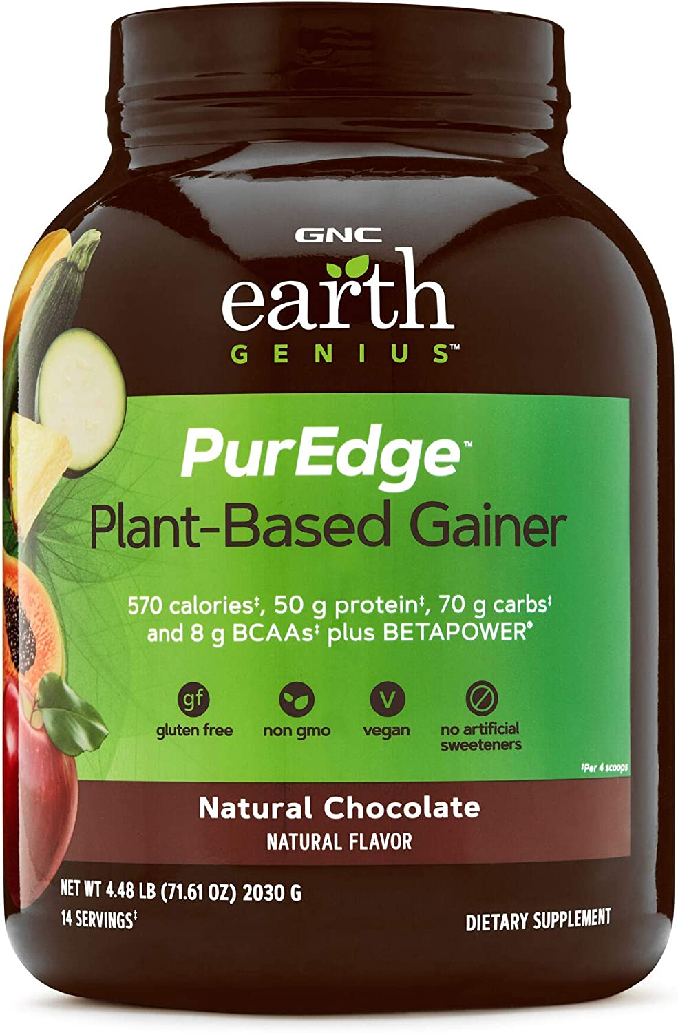 GNC Earth Genius Manufacturer OFFicial shop Classic PurEdge Plant-Based Chocolate Natural Gainer -