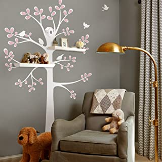 New Style Shelving Tree Wall Sticker with Birds - by Simple Shapes (Standard Size (approx): 55