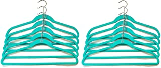 Joy Mangano Huggable Hanger Set for Suits and Pants 10-Pc. (1, Teal)