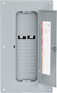 Square D by Schneider Electric HOM2040L125PGC Homeline 125 Amp 20-Space 40-Circuit Main Lugs Load Center with Cover and Ground Bar (Plug-on Neutral Ready),