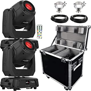 (2) Chauvet DJ Intimidator Spot 360 100 Watt Feature-Packed Moving Heads with IRC-6 Infrared Remote Control Package