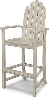 POLYWOOD Adirondack Bar Height Chair, Sand