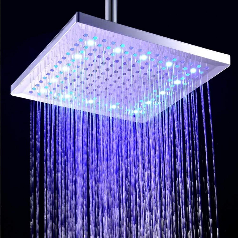XIAOSA 12 inches Rainfall Shower Head Overhead for Bathroom High Pressure Square