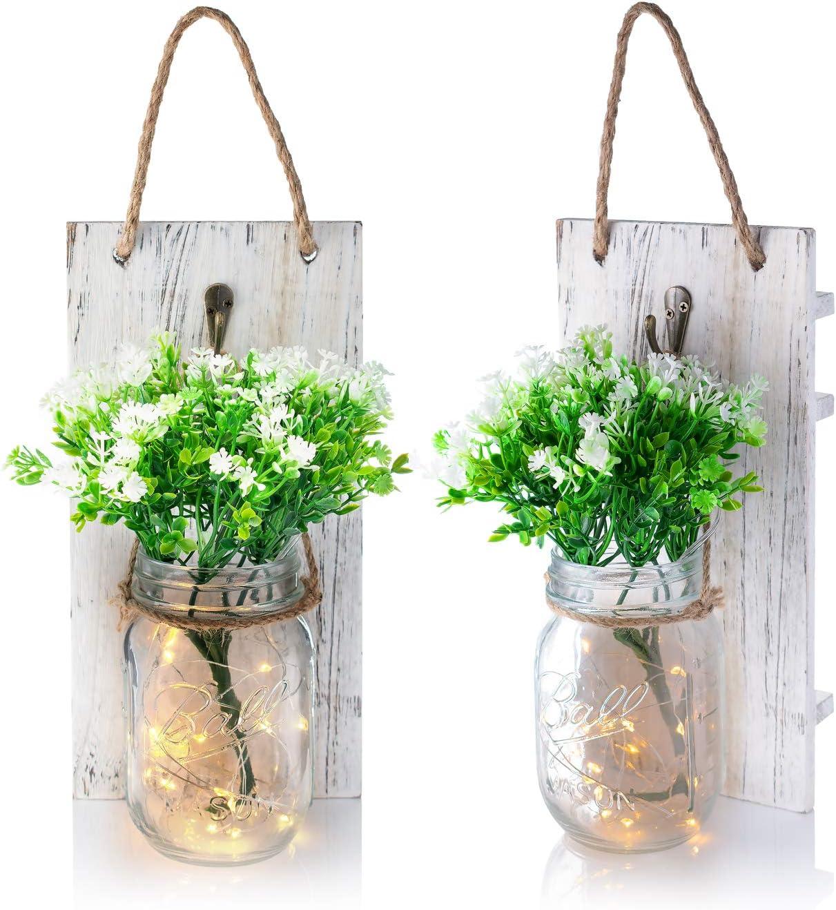 Hanging Mail order Ultra-Cheap Deals Mason Jar Wall House Farmhouse Decor Decoratio