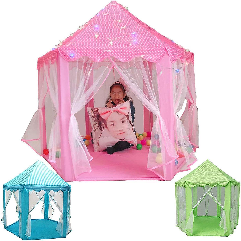 Tragbares KinderpinkfZelt mit Matte, Spielball Princess Girl es Castle Play House Kids Small House Falten Playtent Baby Beach Zelt Baby Beach Zelt