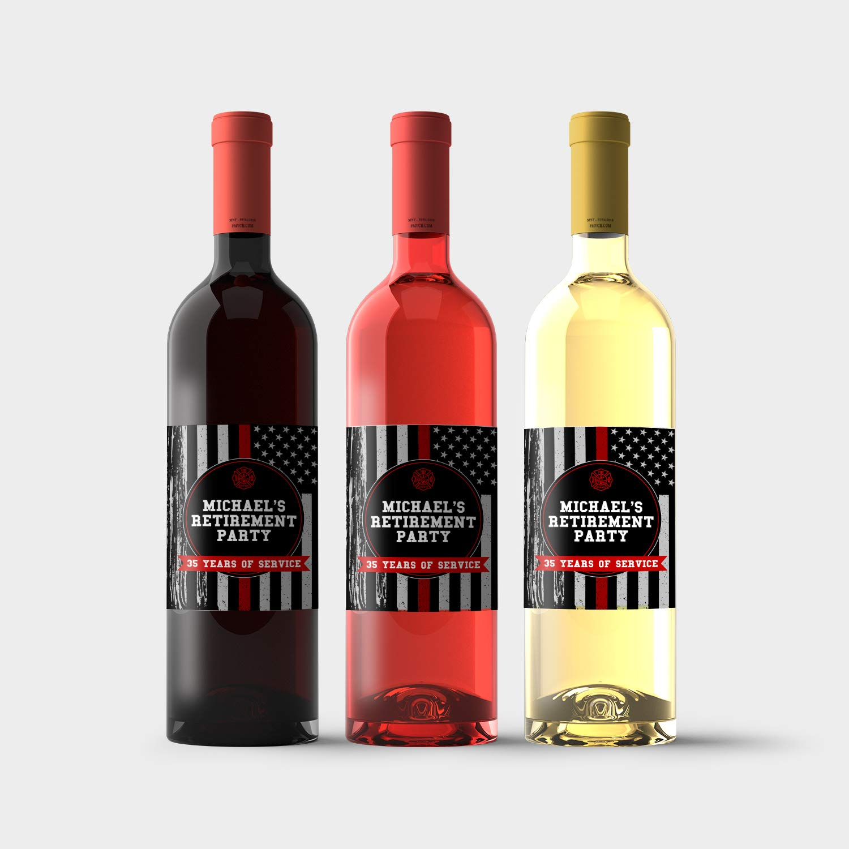 Firefighter Retirement Selling Party Wine Bottle Philadelphia Mall Labels