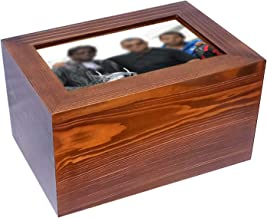Handicrafts House - Beautiful Wooden Cremation Urns with Photo Frame for Human or Pet Ashes Adult, Wood Funeral Picture Urn Large Size 250 cub inches