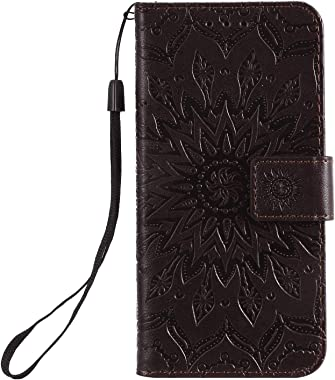 TemplarMoon Simple Flip Case Fit for Samsung Galaxy S20 Plus, Coffee Leather Cover Wallet for Samsung Galaxy S20 Plus