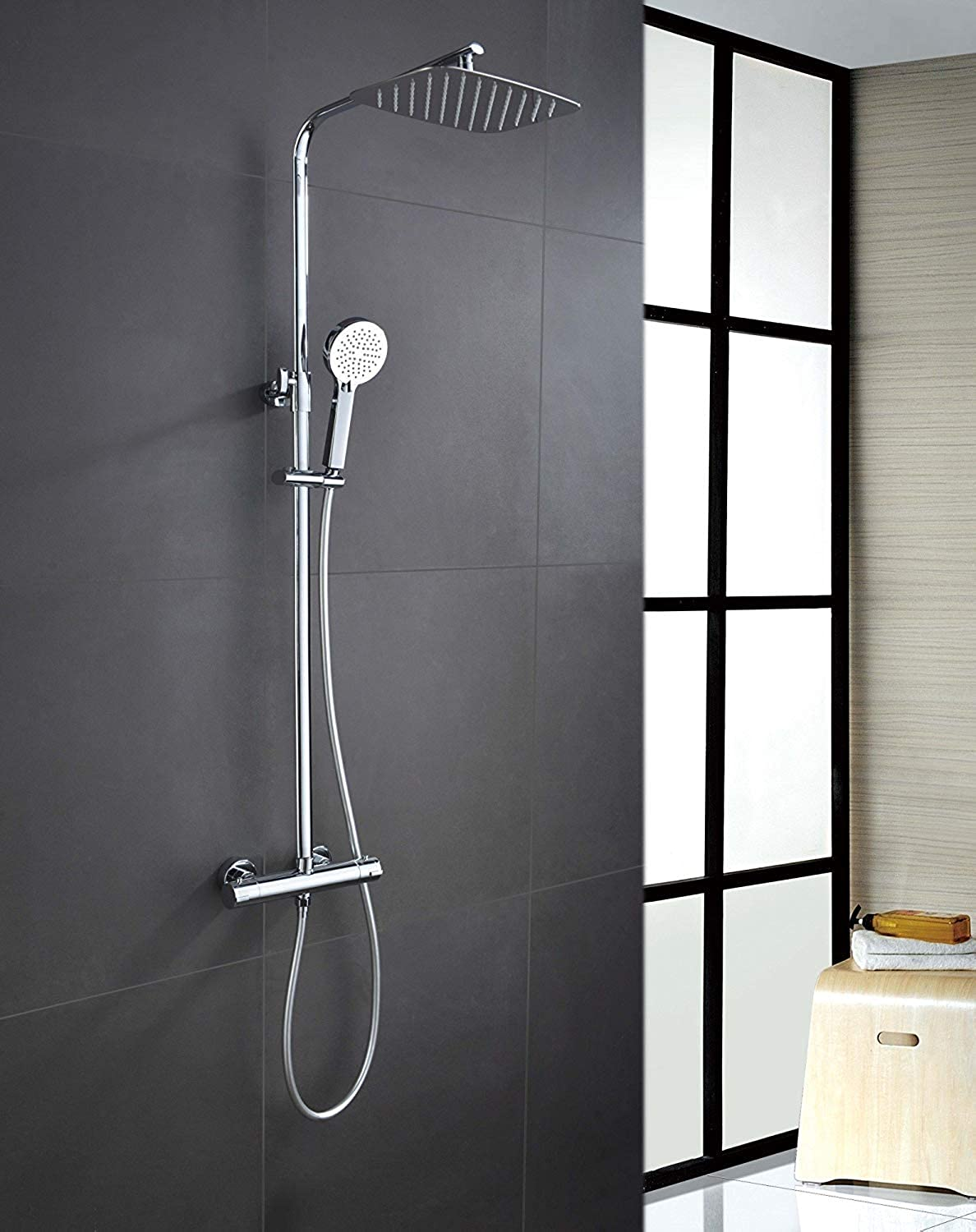 Oval Thermostatic Shower Set Sicilia  Maximum Quality Made in Spain