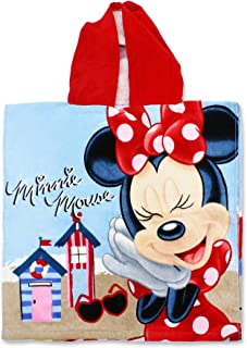 Setino Min-H-PONCHO-26 - Poncho infantil con capucha (55 x 80 cm), diseño de Minnie Mouse