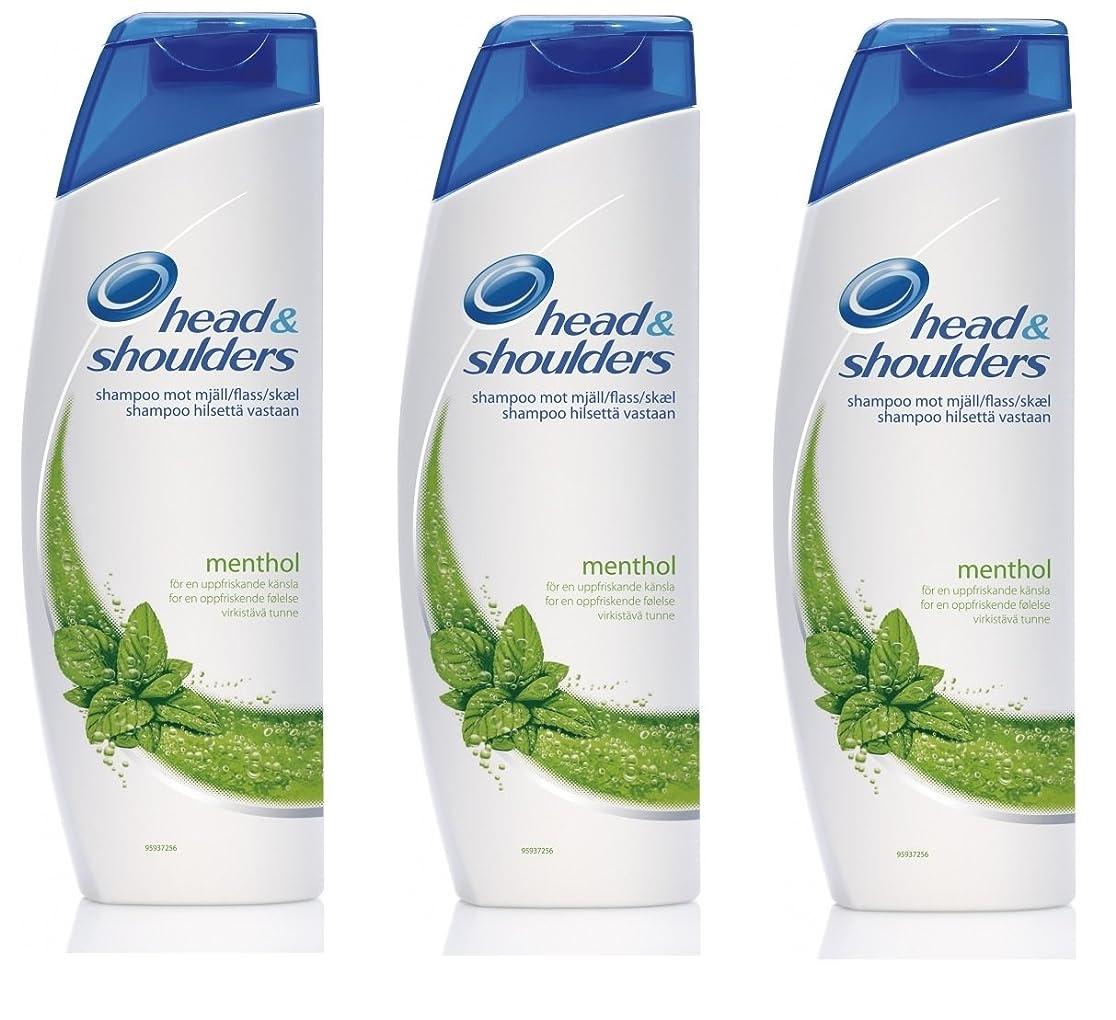 赤面中世の葉巻Head & Shoulders Menthol Anti-Dandruff Shampoo 400ml x 3個