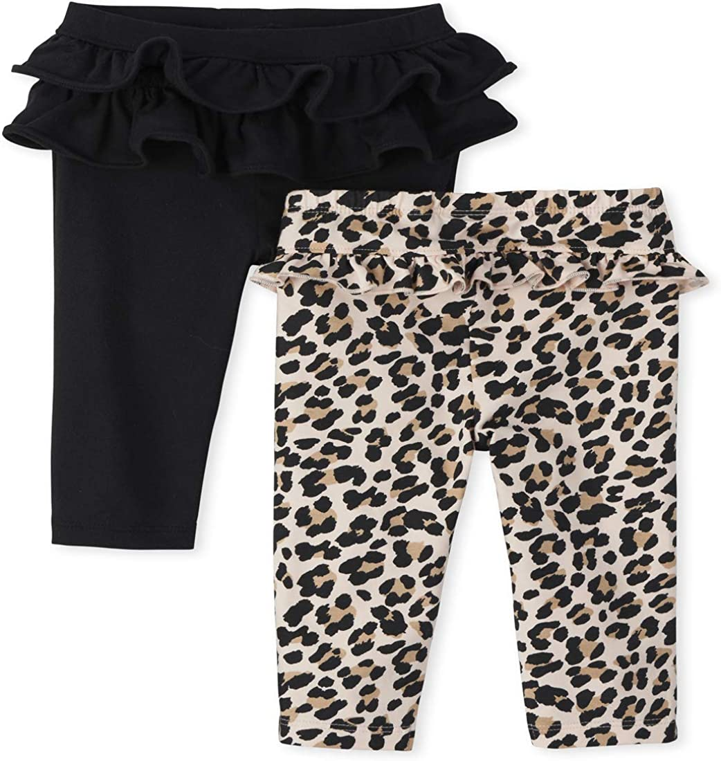 The Children's Place Baby Girls' Leopard Pants 2-Pack