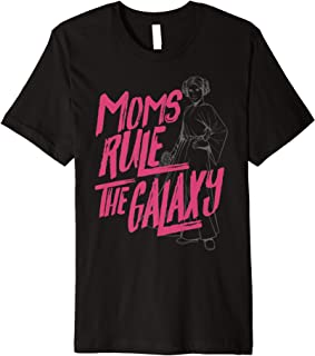 Star Wars Princess Leia Line Art Moms Rule The Galaxy Premium T-Shirt