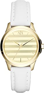 Armani Exchange Womens White Leather Lady Hampton