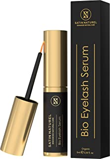 ORGANIC Eyelash Serum Vegan 5ml - Lash Serum for Long Eyelashes & Full Eyebrows with Organic Castor Oil - Scientifically Proven Effective Natural Active Ingredients - Cosmetics Made in Germany
