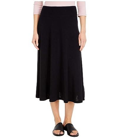 Michael Stars Tahoe Jersey Maude Flared Skirt (Black) Women