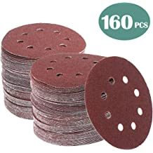 20 pcs Each of 60 80 120 150 240 Grits Tonmp 100 PCS 9-Inch 8-Hole Hook-and-Loop Sanding Discs Sander Paper For Drywall Sander